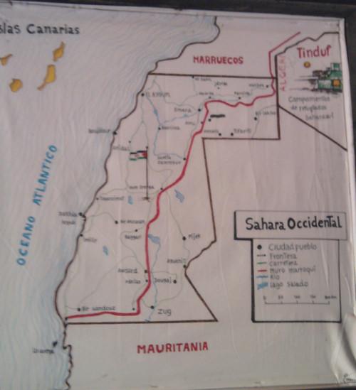 Mapa Sáhara
