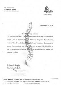 Certificado del Hospital